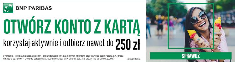 bnp paribas promocja z premią 250 zł